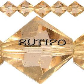 Биконус хрустальный Gold, 4мм, шт