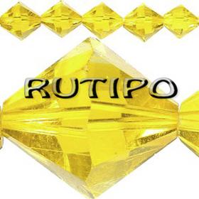 Биконус хрустальный Yellow, 4*3.5мм, шт