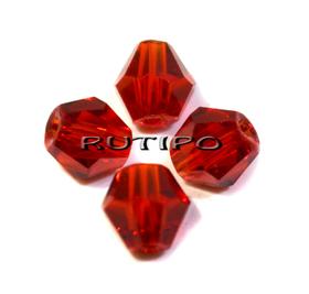 Биконус хрустальный Red, 6мм, шт
