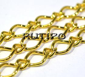 Цепь под золото (р/з 10*7 и 6*4мм), 10м