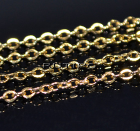 Chain Stainless Steel Golden (size 2.5*2mm), 1m
