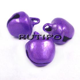 Бубенцы фиолетовые, 8*10мм, шт