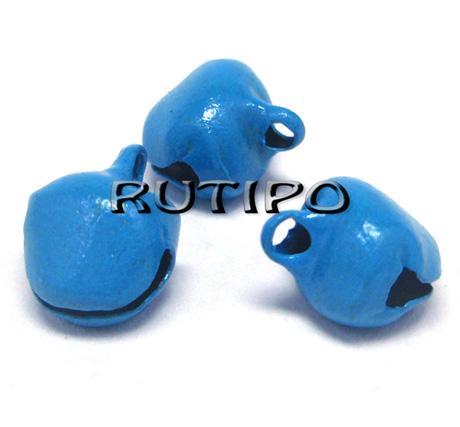 Бубенцы синие, 8*10мм, шт