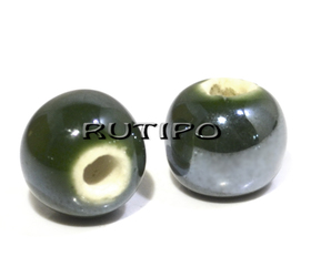 Намистина Pearlized DarkGreen 10мм, шт