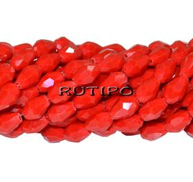Намистини крапля Red 6*4мм, 100шт