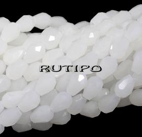 Намистини крапля White 6*4мм, 100шт