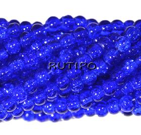 Намистини Cracкle Blue, 4мм, 100шт