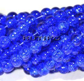 Бусина Cracкle Blue,6 мм, шт