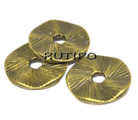 Бусина-диск под бронзу, 13*1мм, шт