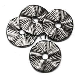 Бусина-диск черная, 13*1мм, шт