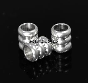 Бусина ювелирная сталь 6*5 мм
