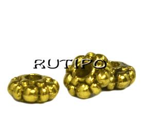 Намистини під золото, 6*2мм, 100шт