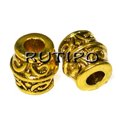 Намистини під золото, 8*8 мм, 100шт