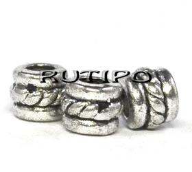 Бусина под серебро 5*4 мм, 100шт