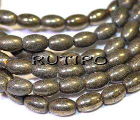 Natural Pyrite bead 7 * 4mm, pcs