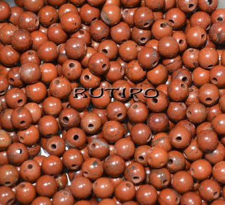 Бусина Яшма червона 4-5 мм, шт