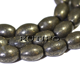 Natural Pyrite bead 8 * 6mm, pcs