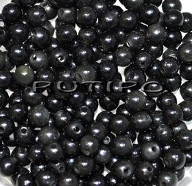 Бусины темно-серый Обсидиан, 4мм, шт