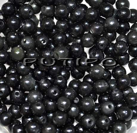 Намистина темно-сірий Обсидіан, 4мм, шт