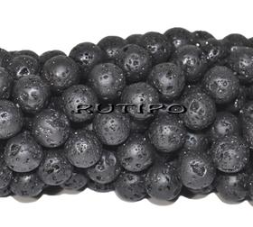 Lava bead (basalt) 8mm, piece