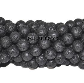 Lava bead (basalt) 6mm, piece