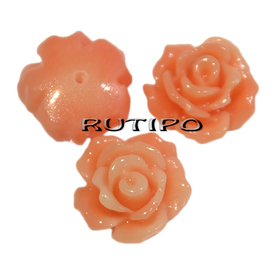 Coral Rose semi-drilled, 8 * 6mm, pcs