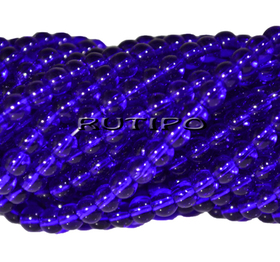 Бусина стеклянная Blue 4мм, шт