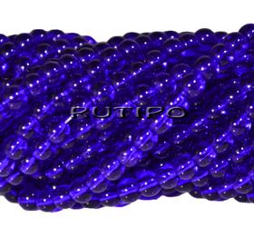 Намистини скляні Blue 4мм, 100шт