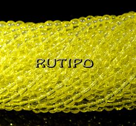Бусина стеклянная Yellow, 4мм, шт