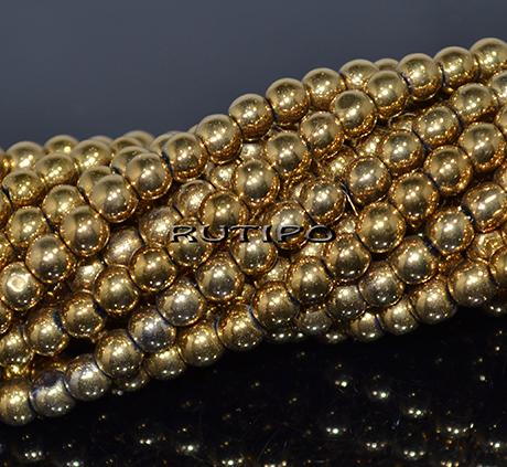 Намистини Golden Plated, 4мм, низька 70см (ок.200шт)