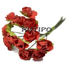 Цветочки красные 15мм, 1 цветок