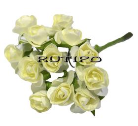 Цветочки бело-зеленые 15мм, 1 цветок