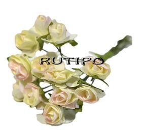 Цветочки бело-розовые 12мм, 1 цветок