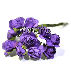 Цветочки фиолетовые 15мм, 1 цветок