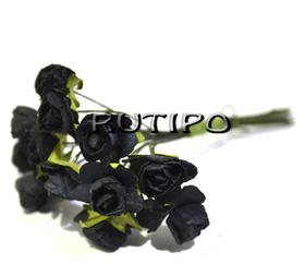 Цветочки черные 12мм, 1 цветок