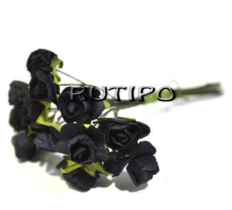 Квіточки чорні 12мм, 1 квітка