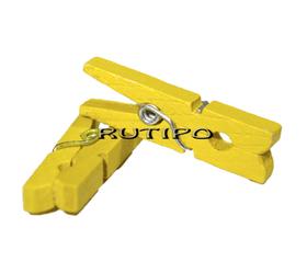 Мини-прищепка желтая, 30мм, шт