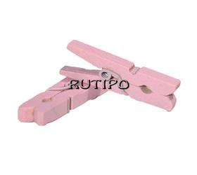 Мини-прищепка розовая, 30мм, шт