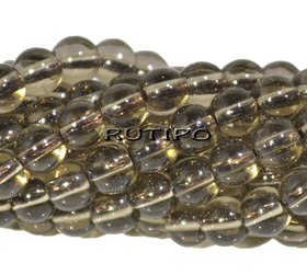 Rauchtopaz beads, 4mm, pcs