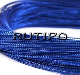 Шнур люрексовый синий, 1мм*1м