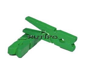 Mini clothespin green, 30mm, pcs
