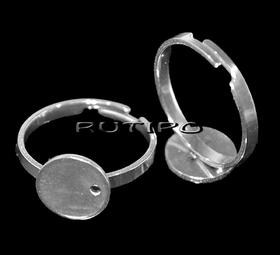 Кольцо ювелирная сталь, площадка 10мм (р\к 17+),шт