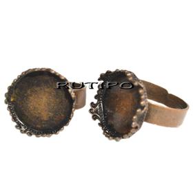 Кольцо - оправа для кабошона 15мм, шт