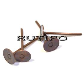 Antique copper studs 5mm, pair