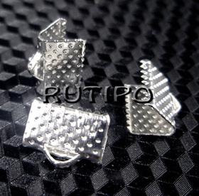 Затискачі для стрічки під срібло 10*7мм, 200шт