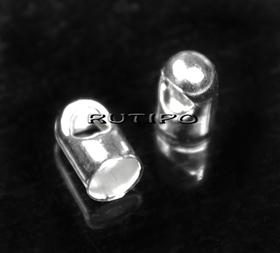 Кінцевики під срібло, 7*4мм (в\д 3.2мм), 100шт