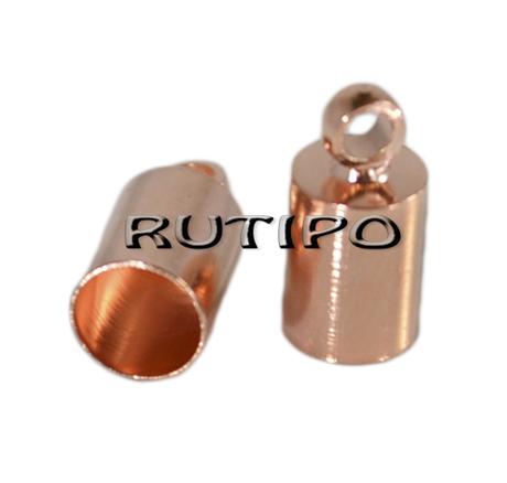 Концевик под розовое золото 10*5мм (в\д 4.5мм), 50шт