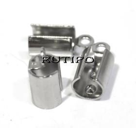 Зажим для шнура Ювелирная сталь, 11*5мм (в\д 3.8-4.8мм), шт