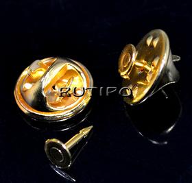 Blank-badge Golden 12 * 4.5mm, 20 sets