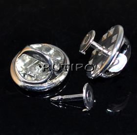 Blank-badge Steel color 12 * 4.5mm, set